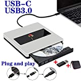 External USB CD DVD Drive NOLYTH USB C Superdrive External CD/DVD Player Burner Writer for Mac/Laptop/MacBook Air/Pro/Windows Made with Alumium Alloy Supported DVD±RW/CD±RW