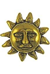 Sun Face Gold Lapel Pin