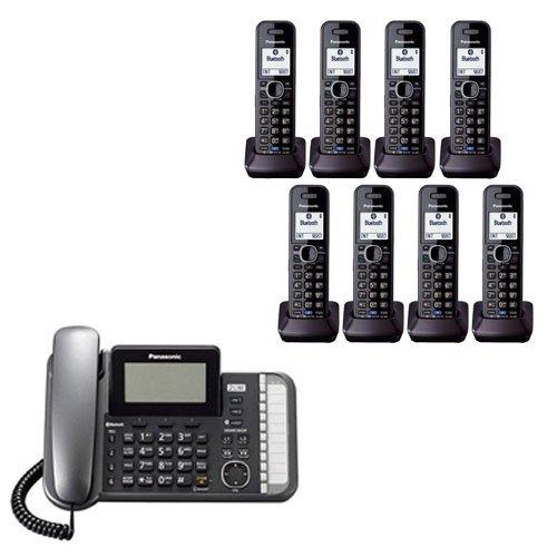 Panasonic KXTG9582B 2 -Line Corded/Cordless Expandable Link2Cell Telephone System (8 ()