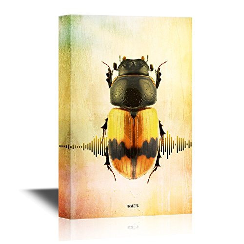 Insects Artwork Series A Yellow Beetle