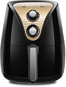ZZHMW 3.5L Air Fryer - Extra Large Capacity, 1230 Watt Electric Hot Air Cooker, Knob Control, Bonus Recipe Booklet.