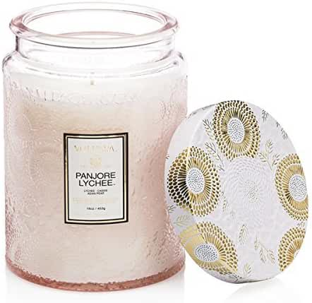 Voluspa Panjoree Lyche Large Glass Jar Candle 100 Hour Limited 16 oz