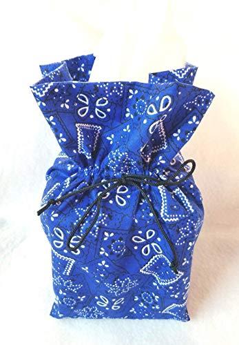 (Blue Bandana Tissue Box Cover, Room Decor)