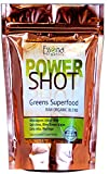 100 % PURE - Raw Organic Vegan - Power Shot Greens Superfood Blend - Spirulina, Chlorella, Wheat Grass, Blue-Green Algae, Kale, More! - 60 SERVINGS from Essona Organics, Powder - 180 gms. Order Today!
