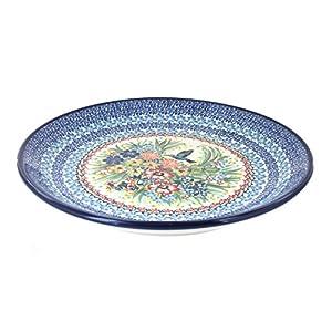 Blue Rose Polish Pottery Hummingbird Dinner Plate