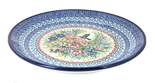 Blue Rose Polish Pottery Hummingbird Dinner Plate ()