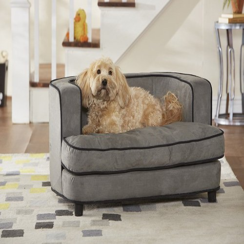 "Enchanted Home Pet Cliff Bed Ultra Plush Pet Bed, 34.5"" L by 22.5"" W, Grey"