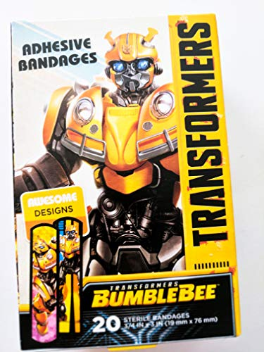 ASO Transformers Bumblebee Sterile Adhesive Bandages - Box of 20-3/4