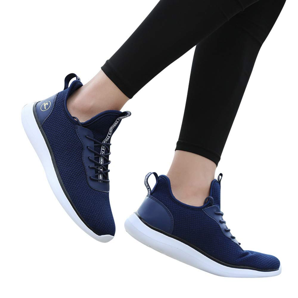 Gyoume Women Men Lace Up Shoes Shallow Short Boots Shoes Slip On Shoes Soles Running Sports Shoes