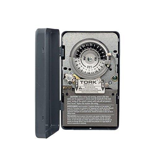 Tork 7100 Time Switch, NEMA 1 Indoor Steel Case, 24 hours Dial