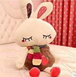 40cm pretty rabbit plush doll throw pillow cushion gray