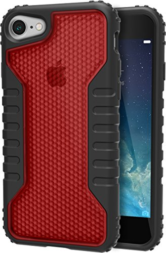 Price comparison product image Silk iPhone 7 Tough Case - Silk Armor iPhone 7 [Rugged Grip] Includes 2 Glass Screen Protectors - Crimson