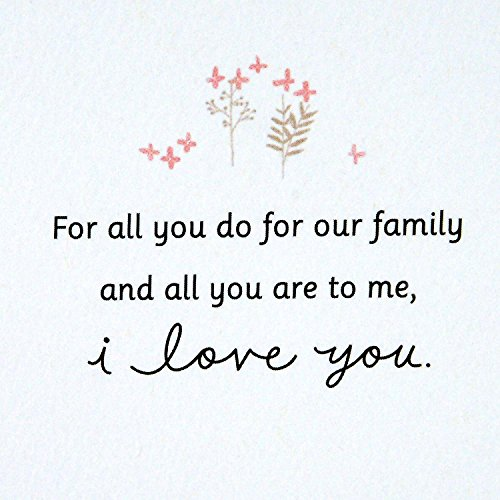Hallmark Signature Mother's Day Love Greeting Card (For All You Do for Our Family) Photo #6