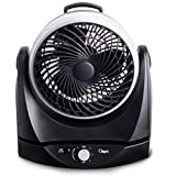 Ozeri OZF4 Brezza II Dual Oscillating High Velocity Desk Fan, 10-Inch, Black