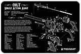 revolver parts - Ultimate Arms Gear Gunsmith & Armorer's Cleaning Work Tool Bench Gun Mat For Colt Single Action Army Revolver Pistol Handgun - Large Exploded View Schematics Diagram of Revolver and Parts List