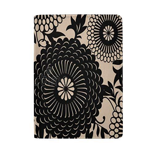 - Passport Holder Oriental Floral Pattern Passport Cover Case Wallet Card Storage Organizer for Men Women Kids