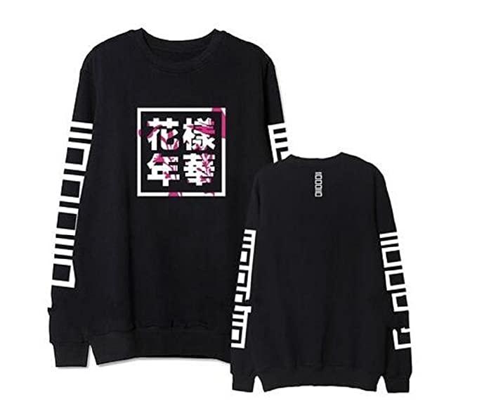 1a765edfa833c mainlead Unisex Kpop BTS Bangtan Boys Hoodie Sweatshirt Athleisure (in  Bloom, Small, Black