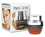 uneven Progenix Vitamin C Intensive Brightening Day Cream for dark spots, age spots, and uneven skin tone. 1oz.