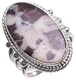 StarGems(tm) Natural Cobra Jasper Handmade Mexican 925 Sterling Silver Ring, US size 7