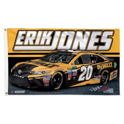 NASCAR Racing 3 x 5 Deluxe Flag with 2018 Sponsor Graphics (Erik Jones Dewalt)