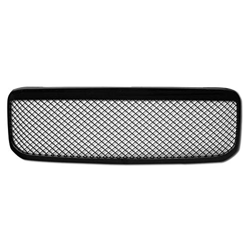 (AA Products Front Grille Compatible Ford Super Duty F250 F350 F450 F550 1999 up to 2004 Luxury Sport Mesh ABS Replacement Grille with Shell Gloss Black)