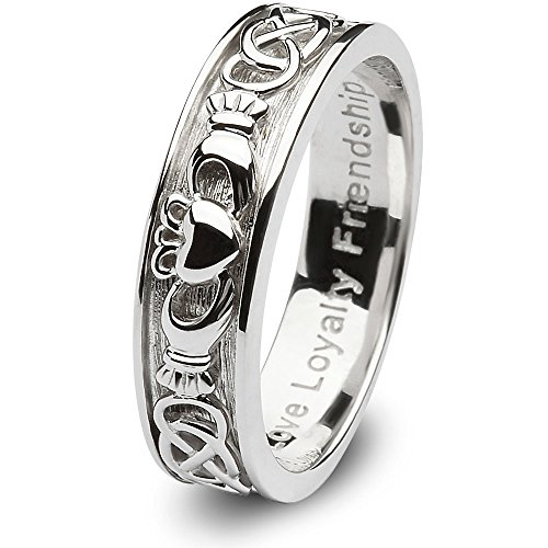 Ladies Claddagh Wedding Ring SL-SD8 - Size: 7 Made in Ireland.