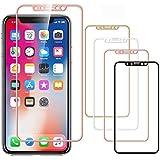 アルミニウム合金枠 強化ガラスフィルム iPhone XS/X/XR/XS MAX/8/8 Plus/7/7 Plus/ iPhone6s/iPhoneSE (iPhoneXS Max, ★ローズゴールド)