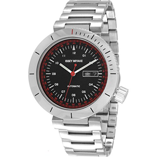 ISSEY MIYAKE Men's 'W' Japanese Automatic Stainless Steel Casual Watch, Color:Silver-Toned (Model: NYAE001Y)
