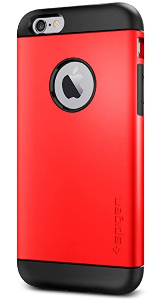 size 40 7f1dd 36aa3 Spigen Slim Armor iPhone 6 Case with Air Cushion Technology and Hybrid Drop  Protection for iPhone 6S / iPhone 6 - Electric Red
