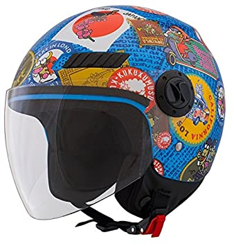 Casco Shiro SH-62 Travelstamps Kids Talla YM 51/52 cms