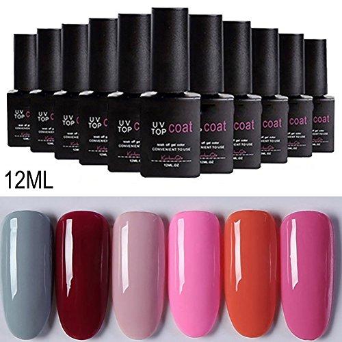 Gel Nail Polish Kekailu, Women Fashion UV Gel Beauty Nail Art Polish Long Lasting Varnish DIY Manicure - 1# ()