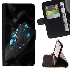 Momo Phone Case / Flip Funda de Cuero Case Cover - Carbon eau Aqua - Samsung Galaxy J1 J100