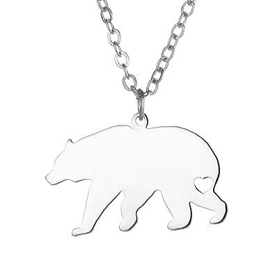 Amazon polar bear necklace polar bear pendant silver or gold polar bear necklace polar bear pendant silver or gold necklace silver aloadofball Gallery