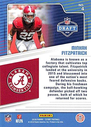 save off ff45d 3e74f Amazon.com: 2018 Score NFL Draft #4 Minkah Fitzpatrick ...