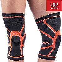 Mava Sports Knee Compression Sleeve Support with Mava Sports Elbow Brace Compression...
