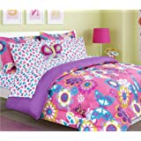 Maya Butterfly Bed in a Bag Comforter Set - 2719-Twin-