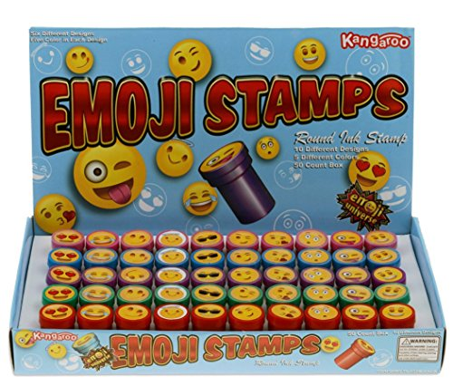 Emoji Universe: Plastic Stamps, 50 Count Emoji Stampers