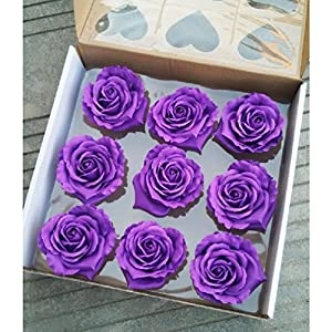 9Pcs Artificial Flowers Soap Rose Head Gift Box Love-Shaped Valentine'S Day 4
