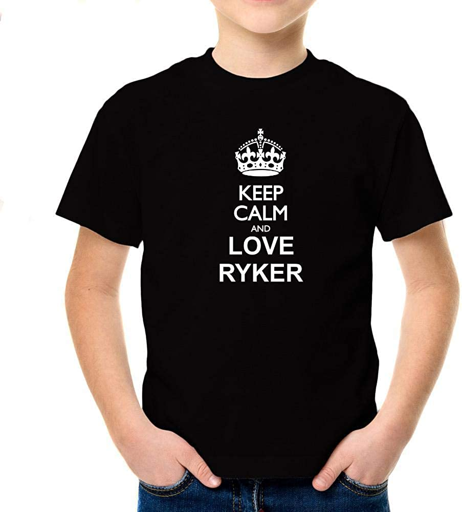 Idakoos Keep Calm and Love Ryker Boy T-Shirt