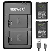 Neewer NP-FW50 Camera Battery Charger Set for Sony (2-Pack Replacement Batteries, 1100mAh, Micro USB Input Dual Charger, 100% Compatible with Original Sony Battery)