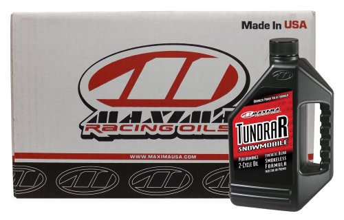 Maxima CS299128-4PK Tundra R Snowmobile 2-Stroke Synthetic Blend Premix/Injector Engine Oil - 1 Gallon Jug, (Case of 4)