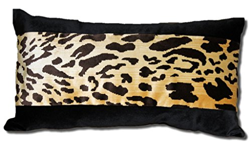 SCALAMANDRE LEOPARDO SILK VELVET LUMBAR PILLOW - Scalamandre Silk