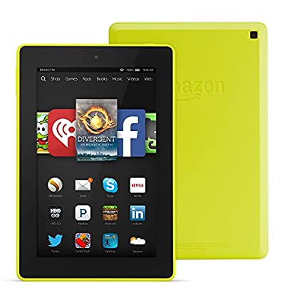 "Fire HD 7, 7"" HD Display, Wi-Fi, 16 GB - Includes Special Offers, Citron"
