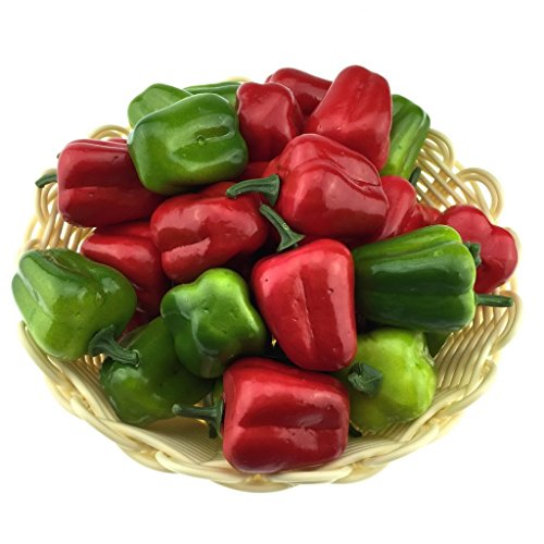 Gresorth 40pcs Artificial Lifelike Simulation Small Chili Pepper Set Decoration Fake Fruit Home House Kitchen Decoration (Fake Chili Peppers compare prices)