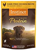 Instinct Ultimate Protein Grain Free Cage Free Chicken Recipe Natural Wet Dog Food Topper by Nature's Variety, 3 oz. Pouches (Case of 24)