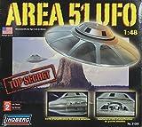 #10: Lindberg 1:48 Area-51 UFO Top Secret Plastic Model Kit #91006