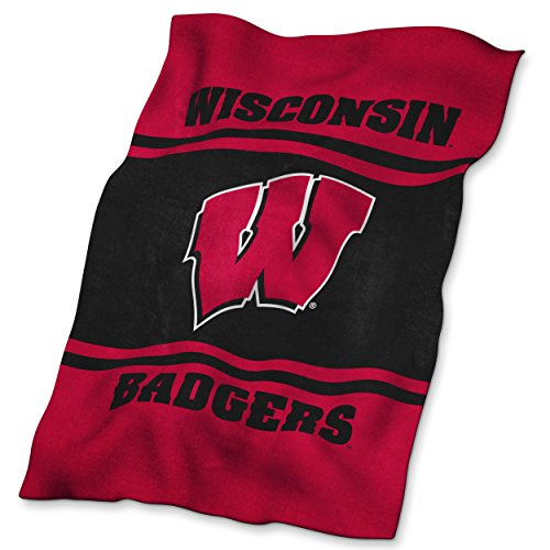 Logo Brands NCAA Wisconsin Badgers Ultrasoft Blanket