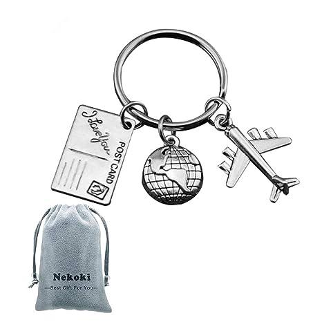 Amazon.com: Llavero de viaje, regalo de viaje, metal con ...