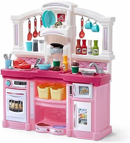 Step2 Fun with Friends Kitchen | Large Pink Play Kitchen with 45-Pc Accessory Set