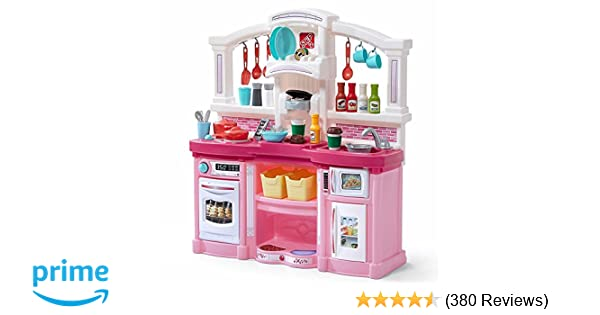 amazon com step2 fun with friends kitchen large pink play kitchen rh amazon com